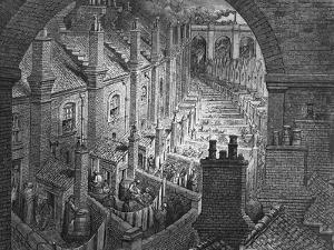 Over London - by Rail, from 'London, a Pilgrimage', Written by William Blanchard Jerrold by Gustave Doré