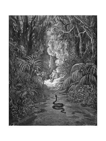 Paradise Lost, by Milton: The serpent approaches