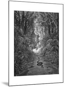 Paradise Lost, by Milton: The serpent approaches by Gustave Dore