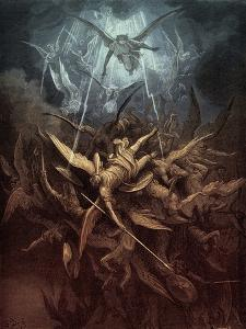 Paradise Lost: Fall of the rebel angels, by Gustave Dore