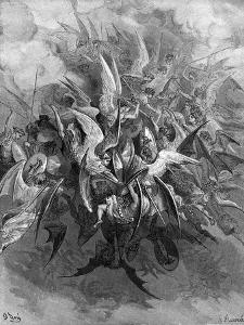 Paradise Lost: The Battle of the angels by Gustave Dore