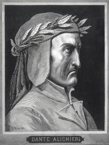 Portrait of Dante Alighieri (1265-1321) by Gustave Dore