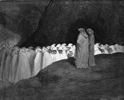 Procession of Damned by Gustave Doré
