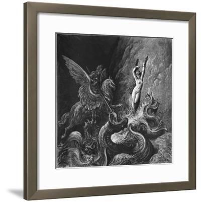 Ruggiero Rescuing Angelica, Illustration from Canto X of 'Orlando Furioso' by Ludovico Ariosto