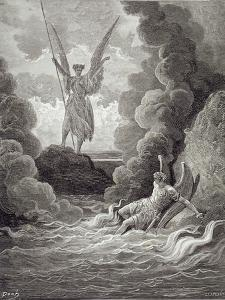 Satan and Beelzebub, from the First Book of 'Paradise Lost' by John Milton (1608-74) Engraved by… by Gustave Doré