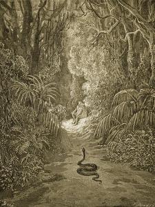 Satan As a Serpent Enters Paradise by Gustave Doré