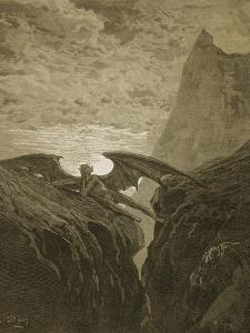 Satan Resting on the Mountain by Gustave Doré