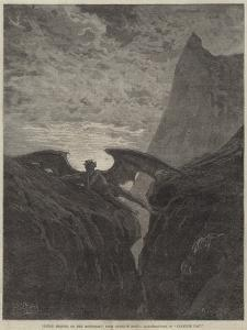 Satan Resting on the Mountain by Gustave Dore