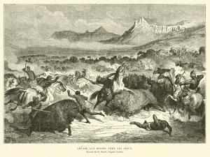 Sioux Hunting Buffalo by Gustave Doré