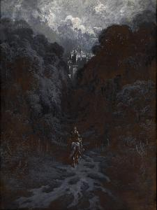 Sir Lancelot Approaching the Castle of Astolat by Gustave Dore