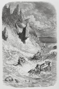 Stranding of Sinbad's Ship, C.1868 by Gustave Dore