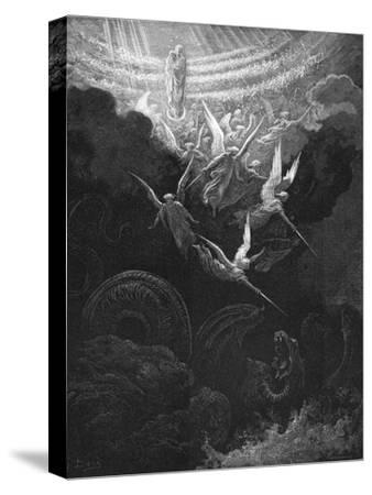 The Archangel Michael and His Angels Fighting the Dragon, 1865-1866