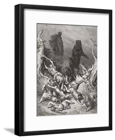 The Children Destroyed by Bears, Illustration from Dore's 'The Holy Bible', 1866