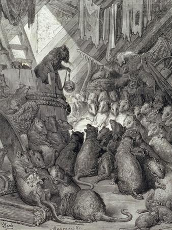 The Council Held by the Rats, from the Fables of La Fontaine, Engraved by Antoine Valerie…