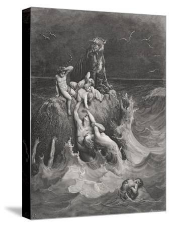 The Deluge, Illustration from Dore's 'The Holy Bible', Engraved by Pannemaker, 1866