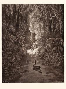 The First Approach of the Serpent by Gustave Dore