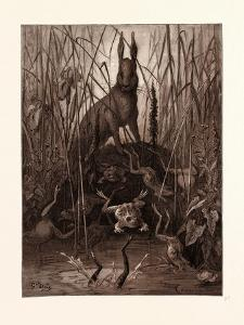The Hare and the Frogs by Gustave Dore