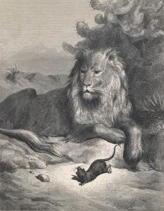 The Lion and the Mouse by Gustave Doré