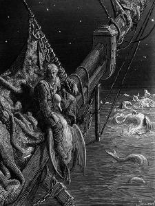 The Mariner Gazes on the Serpents in the Ocean by Gustave Doré
