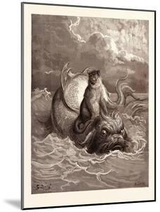 The Monkey and the Dolphin by Gustave Dore