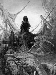 The 'Night-Mare Life-In-Death' Plays Dice with Death for the Souls of the Crew by Gustave Doré