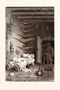 The Spare Bed at the Crocodile by Gustave Dore