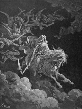The Vision of Death, Engraved by Heliodore Joseph Pisan (1822-90) C.1868