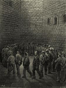Victorian London prison by Gustave Dore