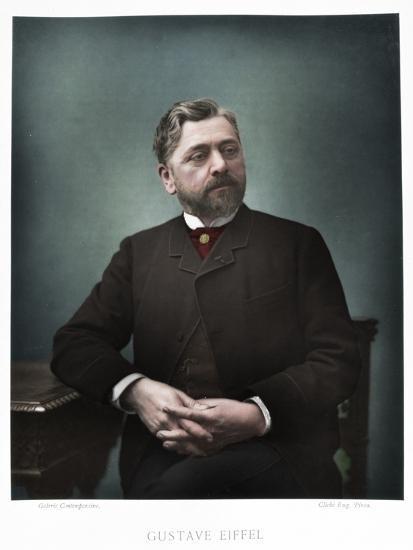 Gustave Eiffel, French engineer, 1880-Eugene Pirou-Photographic Print