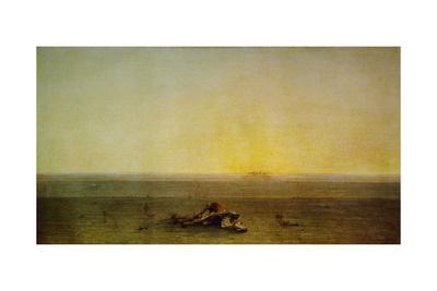Le Sahara, dit aussi Le desert, 1867 Sahara, or The desert. Canvas, 110 x 200 cm R. F. 505.