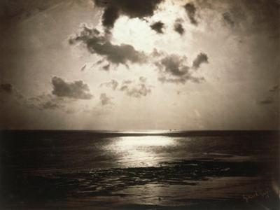 Effect of the Sun, Sunset at a Beach by Gustave Le Gray