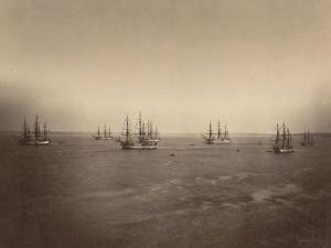 Flotte française en rade de Brest by Gustave Le Gray