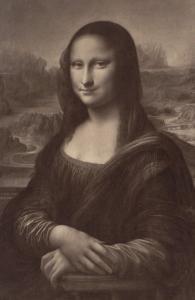 La Joconde par Léonard de Vinci, musée du Louvre by Gustave Le Gray