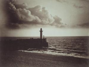 Lighthouse and Jetty, Le Havre by Gustave Le Gray