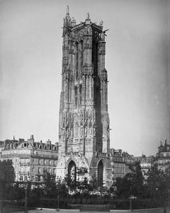 Paris, 1857-1859 - The Tour St. Jacques by Gustave Le Gray