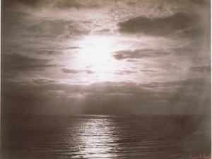 Seascape: Vue de Mer, Le Soleil by Gustave Le Gray