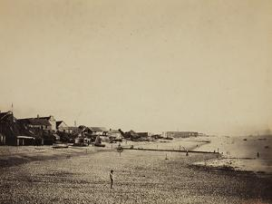 The Beach at Sainte-Adresse, 1856-57 by Gustave Le Gray
