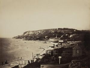 The Beach at Sainte-Adresse, with the Dumont Baths, 1856-57 by Gustave Le Gray