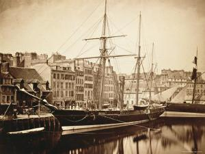 The Imperial Yacht La Reine Hortense at Le Havre, 1856 by Gustave Le Gray
