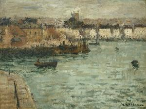 In Front of the Port of Dieppe; Avant Porte De Dieppe, 1918-1920 by Gustave Loiseau