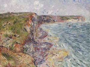 Sailboats near the Cliffs, Yport by Gustave Loiseau