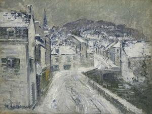 Snow in Pont-Aven; Neige a Pont-Aven, 1922 by Gustave Loiseau