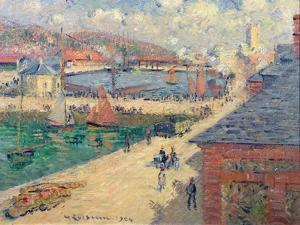 The Port of Fecamp, 1924 by Gustave Loiseau