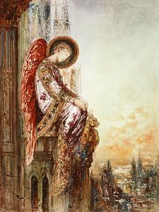 Angel Traveller (W/C) by Gustave Moreau