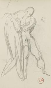 Carnet de dessins : étude pour la Sulamite by Gustave Moreau