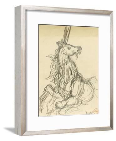 Carton 42. Etude de licorne pour les Chimères (?)