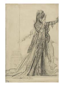 "Carton 84-2. Etude pour ""Salomé"" (collection Hammer) by Gustave Moreau"