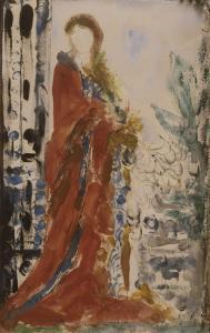 Costume du matin pour un portrait moderne by Gustave Moreau
