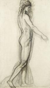 Etude d'après le modèle pour Salomé by Gustave Moreau