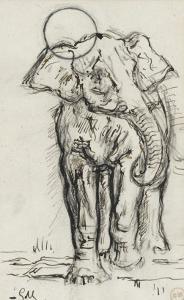 Etude d'éléphant by Gustave Moreau